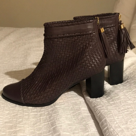 guilhermina Shoes - Guilhermina Woven Leather Boots 8